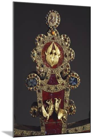 Processional Cross in Red Jasper, Gold and Gems, Angels, 1296--Mounted Giclee Print