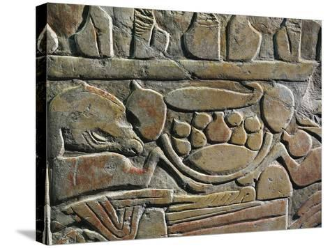 Relief Depicting Food Offerings for the Deities, from Abydos--Stretched Canvas Print