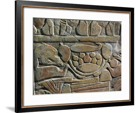 Relief Depicting Food Offerings for the Deities, from Abydos--Framed Art Print