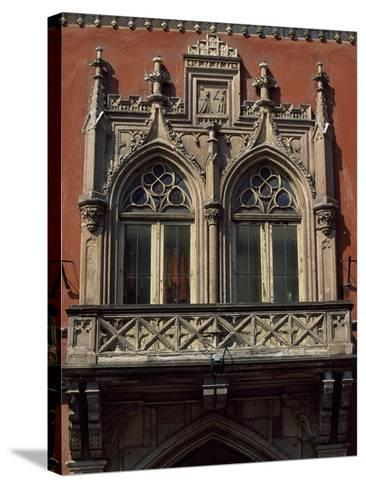 Slovakia, Kosice, Namestie Slobody, Building Architectural Detail--Stretched Canvas Print