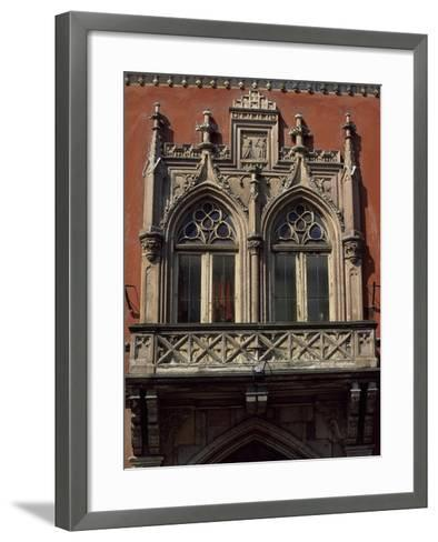 Slovakia, Kosice, Namestie Slobody, Building Architectural Detail--Framed Art Print