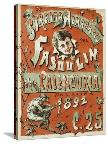 Cover of Christmas Almanac of Fasulin for 1892--Stretched Canvas Print
