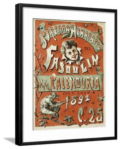 Cover of Christmas Almanac of Fasulin for 1892--Framed Art Print