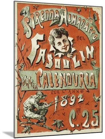 Cover of Christmas Almanac of Fasulin for 1892--Mounted Giclee Print