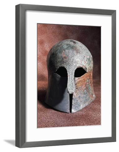 Apulian-Corinthian Bronze Helmet from Serra Lustrante, Armento, Basilicata, Italy--Framed Art Print