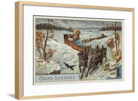 Travelling by Dog Sled, Alaska--Framed Art Print