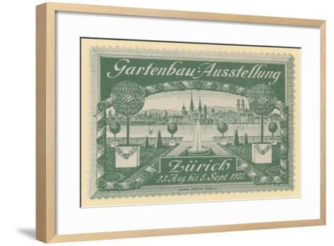 Horticultural Exhibition, Zurich, 1907--Framed Art Print