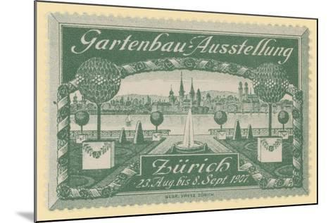 Horticultural Exhibition, Zurich, 1907--Mounted Giclee Print
