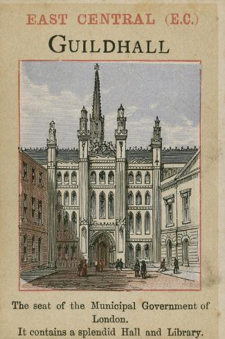 Guildhall--Stretched Canvas Print