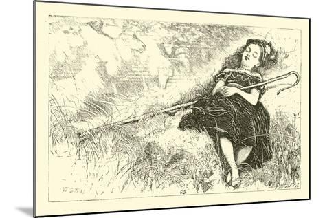 Little Bo-Peep--Mounted Giclee Print