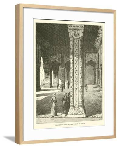 The Throne-Room in the Palace of Delhi--Framed Art Print