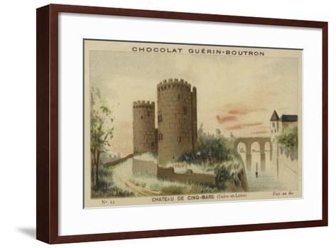 Chateau De Cinq-Mars, Indre-Et-Loire--Framed Art Print