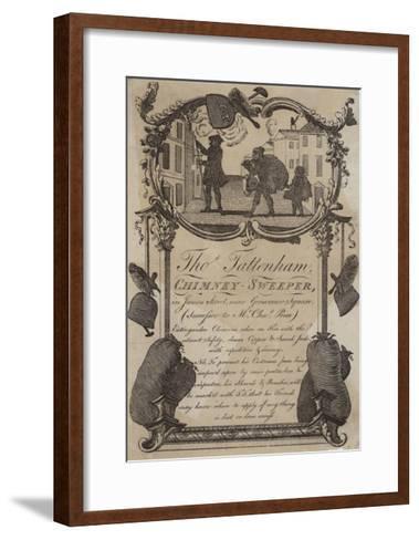 Chimney Sweeps, Thomas Tattenham, Trade Card--Framed Art Print