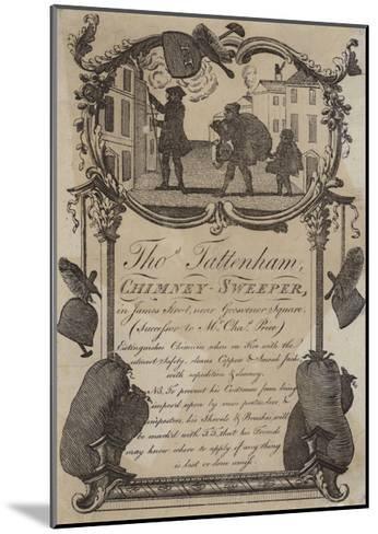 Chimney Sweeps, Thomas Tattenham, Trade Card--Mounted Giclee Print