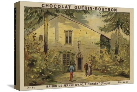 Maison De Jeanne D'Arc, a Domremy, Vosges--Stretched Canvas Print