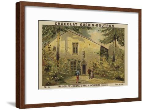Maison De Jeanne D'Arc, a Domremy, Vosges--Framed Art Print