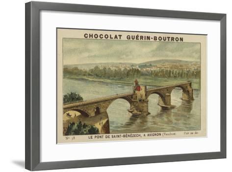 Le Pont De Saint-Benezech, a Avignon, Vaucluse--Framed Art Print