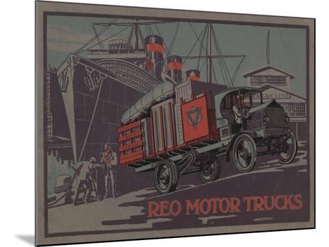 Advertisement for Reo Motor Trucks, C.1910--Mounted Giclee Print