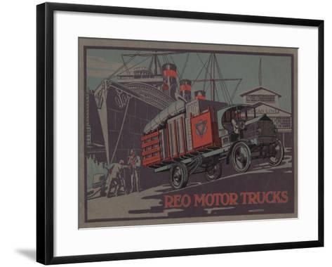 Advertisement for Reo Motor Trucks, C.1910--Framed Art Print