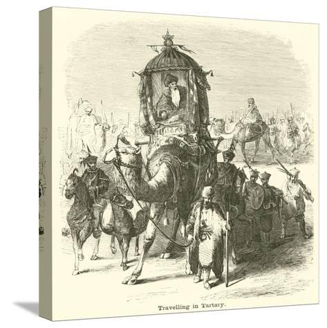 Travelling in Tartary--Stretched Canvas Print