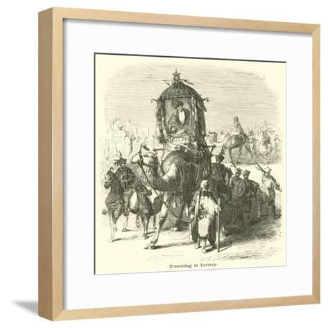 Travelling in Tartary--Framed Art Print