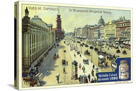 Nevsky Prospekt, St Petersburg--Stretched Canvas Print