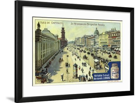 Nevsky Prospekt, St Petersburg--Framed Art Print