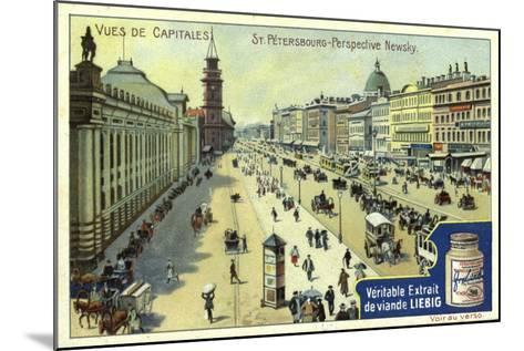 Nevsky Prospekt, St Petersburg--Mounted Giclee Print