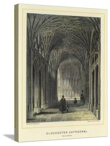 Gloucester Cathedral, the Cloisters-Benjamin Baud-Stretched Canvas Print