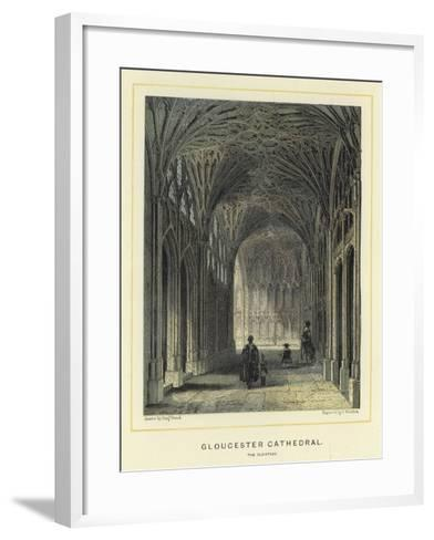 Gloucester Cathedral, the Cloisters-Benjamin Baud-Framed Art Print
