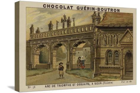 Arc De Triomphe Et Ossuaire, a Sizun, Finistere--Stretched Canvas Print
