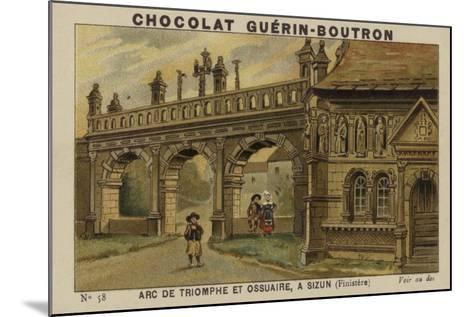 Arc De Triomphe Et Ossuaire, a Sizun, Finistere--Mounted Giclee Print