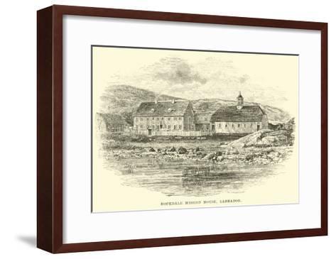 Hopedale Mission House, Labrador--Framed Art Print