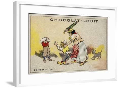 La Correction--Framed Art Print