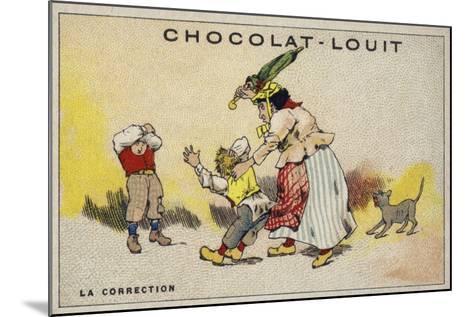 La Correction--Mounted Giclee Print