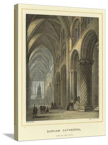 Durham Cathedral, View of the Nave--Stretched Canvas Print