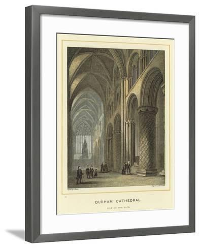 Durham Cathedral, View of the Nave--Framed Art Print