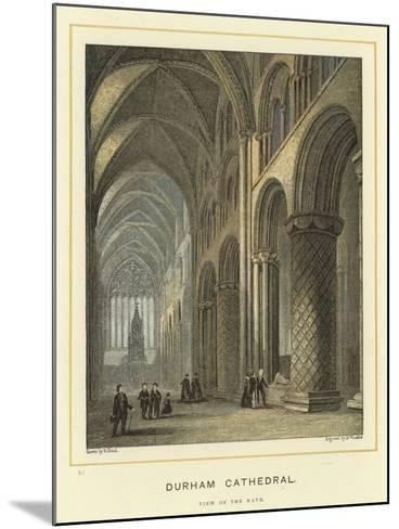 Durham Cathedral, View of the Nave--Mounted Giclee Print