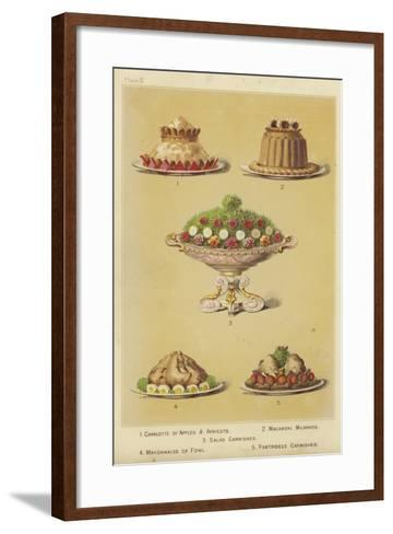 Fruit and Fowl Dishes--Framed Art Print