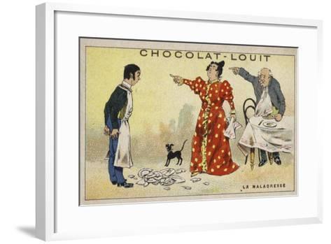 La Maladresse--Framed Art Print