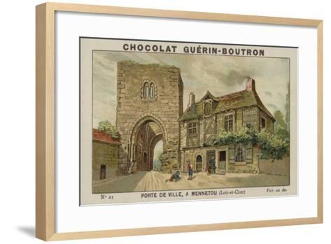 Porte De Ville, a Mennetou, Loir-Et-Cher--Framed Art Print