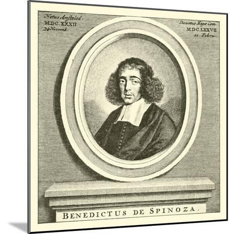 Baruch Spinoza, Dutch Jewish Philosopher--Mounted Giclee Print