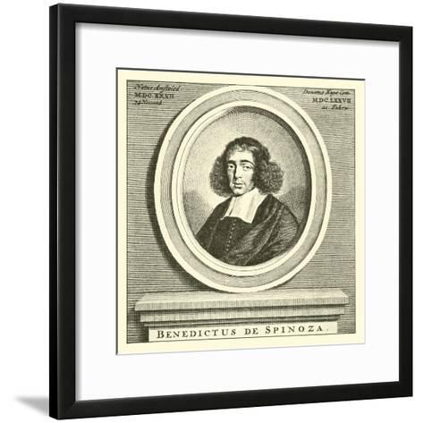 Baruch Spinoza, Dutch Jewish Philosopher--Framed Art Print