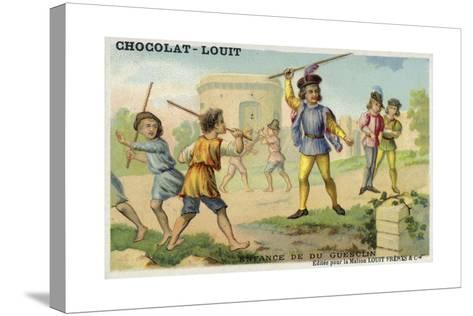 The Childhood of Bertrand Du Guesclin--Stretched Canvas Print