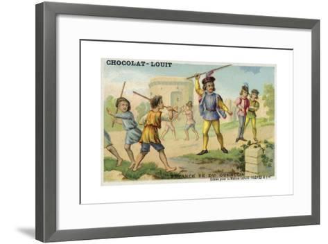 The Childhood of Bertrand Du Guesclin--Framed Art Print