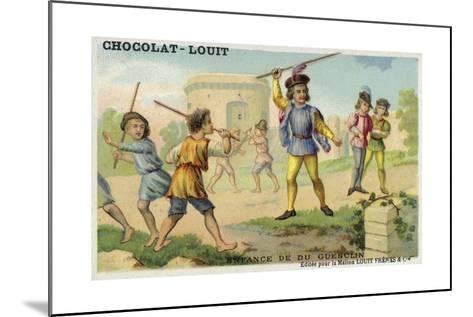 The Childhood of Bertrand Du Guesclin--Mounted Giclee Print