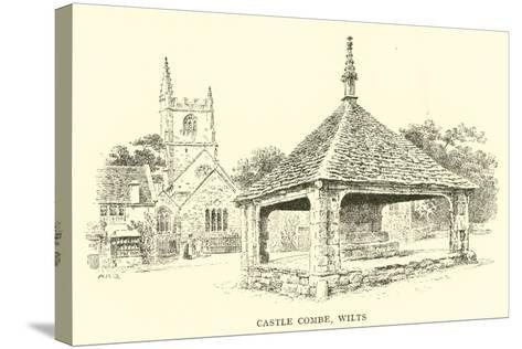 Castle Combe, Wilts-Alfred Robert Quinton-Stretched Canvas Print