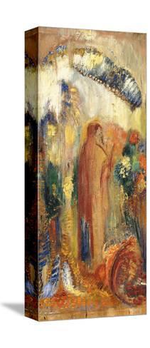 The Sermon-Odilon Redon-Stretched Canvas Print
