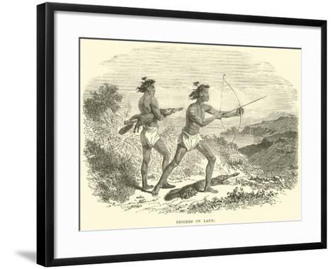 Diggers on Land--Framed Art Print
