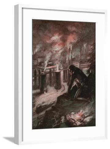 What the First Man Saw in the Fire--Framed Art Print